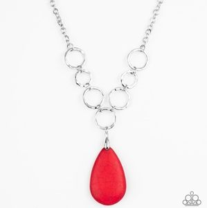 Red necklace/earrings paparazzi